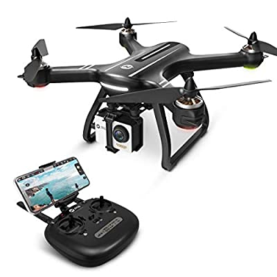 Holy Stone HS700 Ophelia FPV RC Drone with Camera and GPS Return Home Quadcopter with Adjustable Wide-Angle 1080P HD WIFI Camera Live Video- Follow Me, Altitude Hold, Intelligent Battery, Black
