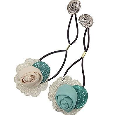 Ysting Pack von 2 Mode Frauen Mädchen Spitze Rose Blume