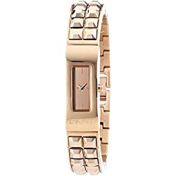 DKNY Women's Quartz Watch with Black Dial Analogue Display Quartz Stainless Steel Coated NY2229
