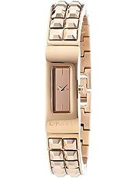 DKNY  - Reloj Analógico de Cuarzo para Mujer, correa de Acero inoxidable chapado color Oro rosa