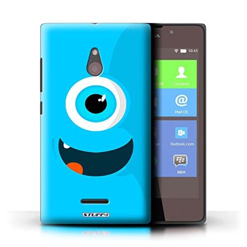 Kobalt® Imprimé Etui / Coque pour Nokia XL / Vert conception / Série Monstres Bleu