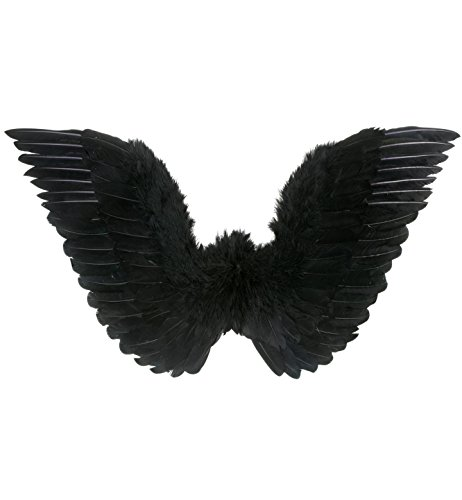 Black Kostüm Angel Fancy Dress - Widmann - Halloween - Flügel