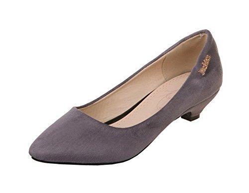 Unie Talon Suede Légeres Gris Chaussures Couleur Femme Shoes Correct à AgeeMi qTZfYn