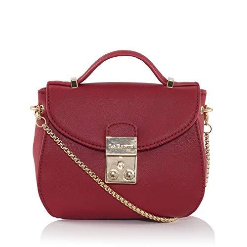 09d73e553e2e3 LaBante- umhängetasche Damen klein -Snowberry- Mini geldbörse Damen Tasche  rot Kleine Tasche Schultertasche