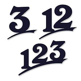 Hausnummer 2-stellig /16cm Ziffernhöhe in Anthrazit RAL7016,Schwarz oder Weiß