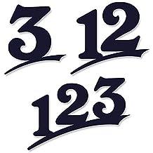 mit Montageschablone 6mm stark aus Acrylglas schwarz oder wei/ß UV-best/ändig und abwaschbar Anthrazit wie Pulverbeschichtet RAL 7016 16cm Ziffernh/öhe in Anthrazit-grau Original ALEZZIO Design Rostfrei Hausnummer 15