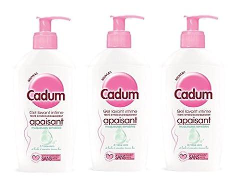 Cadum - Soin Intime Gel Apaisant Toilette Intime Muqueuses Sensibles - 200 ml - Lot de 3