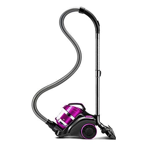 LCTXCQ Beutelloser Kanister Cyclonic Vacuum - HEPA-Filter - Enthält Haustier/Sofa, biegsames Mehrfachwinkel, Spaltdüsen- / Borstenbürste, ausziehbares Kabel (Farbe : Lila)