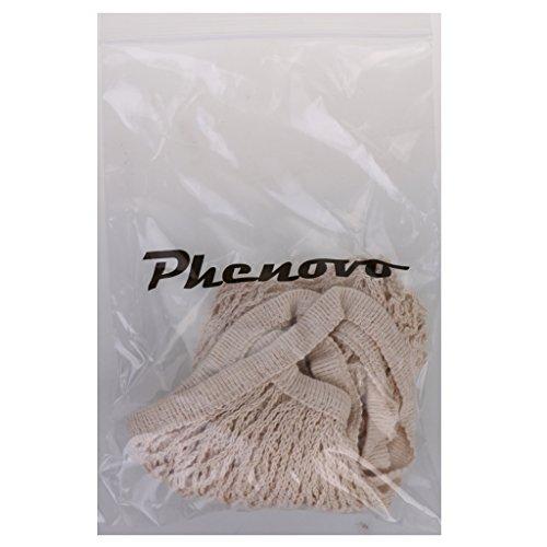 Phenovo Netztasche Baumwollschnur Einkaufen Wiederverwendbare Tasche Aufbewahrungstasche Beige