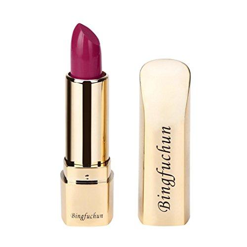 Voberry Rouge à lèvres Matte Imperméable Longue Durée Lip Femmes Or Cosmétique Beauté Maquillage (D)