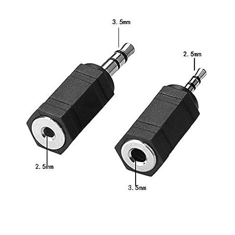 SIENOC Splitter Audio Jack 3.5mm 5 Way pour multi headset telephone MP3 (2,5 mm vers 3,5 mm+ 2,5 mm vers 3,5 mm)