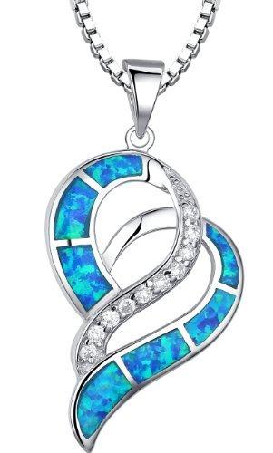 arco-iris-schmuck-damen-halskette-herz-mit-anhanger-sterling-silber-mit-blauer-opal-45-cm