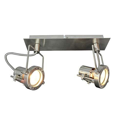 Strahler Spot Jet Line 2 flammig Fassung GU10 Spot Deckenleuchte Wandlampe Spotleuchte 2 Line-basis