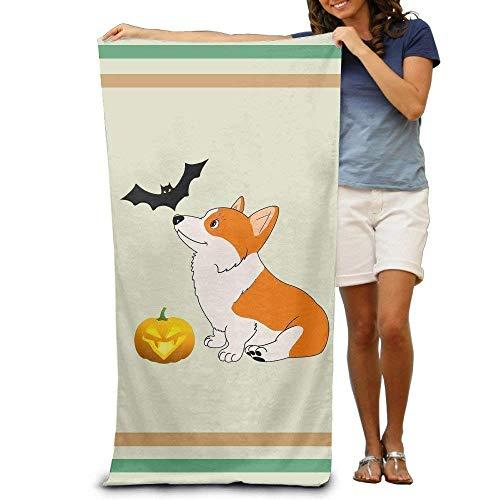 EELKKO Kawaii Halloween Corgi Adults Cotton Beach Towel 31.5 X 51 Inch-Inch 31