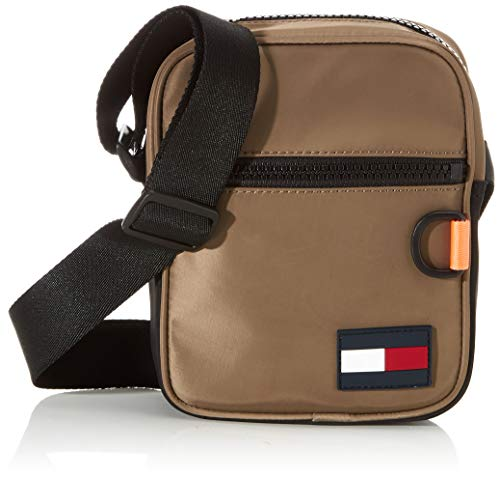 Tommy Hilfiger - Mini Reporter, Shoppers y bolsos de hombro Hombre, Gris Nomad, 1x1x1 cm W x H L
