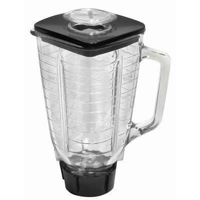 Casa n cocina colección juego de 6completo Kit de repuestos, jarra de 1,25litro (40oz), 5licuadora de vidrio Copa Square Top (Compatible con Oster batidoras)