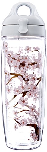 Blossom Tumbler (Tervis Tumbler Cherry Blossom Wrap Water Bottle with Lid by Tervis)