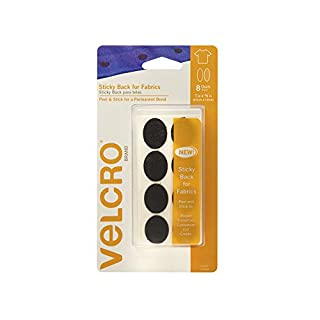 Velcro(r) Brand Fasteners Velcro Brand-Sticky Back for Fabrics: No Sewing needed-1-inch X 3/4-inch Ovals, 8 Sets-Black, Acrylic, Multicolour, 8x15.59x1.6 cm