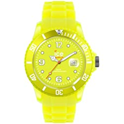 Ice-Watch Unisex Quartz Watch with Yellow Dial Analogue Display and Yellow Silicone Strap SS.NYW.U.S