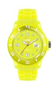 ICE-Watch - Montre Mixte - Quartz Analogique - Ice-Flashy - Neon Yellow - Unisex - Cadran Jaune - Bracelet Silicone Jaune - SS.NYW.U.S.12