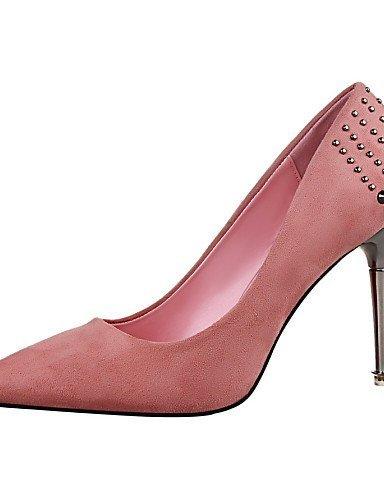 ShangYi Chaussures Femme - Bureau & Travail / Décontracté - Noir / Rose / Rouge / Gris / Bordeaux - Talon Aiguille -Talons / Bout Pointu / Bout Burgundy