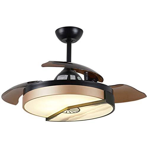 Lampadario Lampadari, Lampadario con sorgente luminosa a LED, E36 * 2 Sorgente luminosa dimmerabile per soggiorno / sala da pranzo / hotel / lampada a sospensione con lampadario a fan [Classe energeti