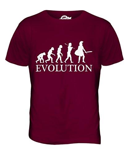 CandyMix Sparta Spartaner Evolution Des Menschen Herren T Shirt Burgunderrot