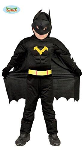 Vestito eroe nero batman 10-12 anni