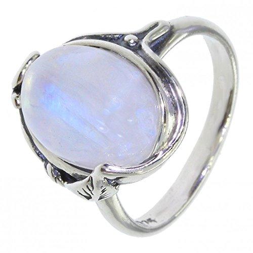 Anelli argento con pietra di luna