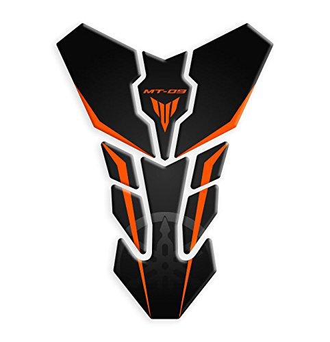 Tankpad / Tankschutz, kompatibel mit dem Motorrad-Modell: Yamaha MT-09, Artikel GP-084 Orange