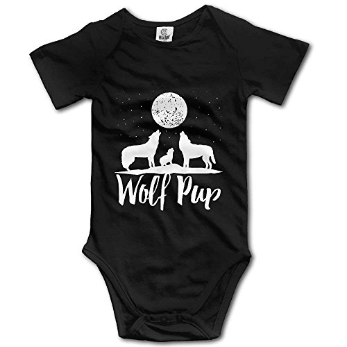 Babybekleidung Jungen Mädchen T-Shirts, Baby 100% Cotton Short Sleeve Bodysuit Lap Shoulder Bodysuits for Wolf Pup Family of Wolves -