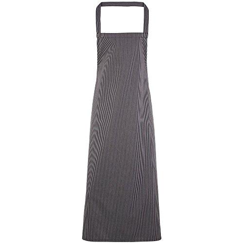 Premier Mens & Womens/Ladies Vertical Stripe Chef's Workwear Bib Apron (Uniform Womens Mens)