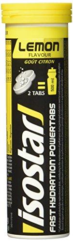 Isostar Powertabs Zitrone, isotonisches Getränk,Sportdrink für intensives Training, 1er Pack (in 1Tube 10 Tabs) -