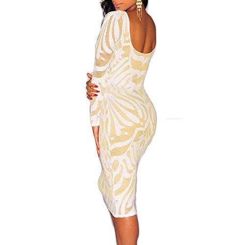 Toocool - Robe - Moulante - Femme Blanc