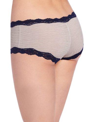 Maidenform Damen Taillenslip Cheeky Modal Hipster with Lace - Steel Grey Stripe
