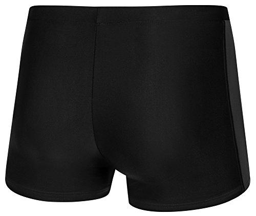 AQUA-SPEED® Herren Badehose | Schwimmhose | S-XXXL | Modern | Perfect Fit | UV-Schutz | Chlor resistent | Kordelzug 18. Gray - Black - Green Piping