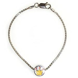 COOL KIDS 925-er Sterling Silber Schmuck Set Armband und Charm Krone Gelb Mädchen