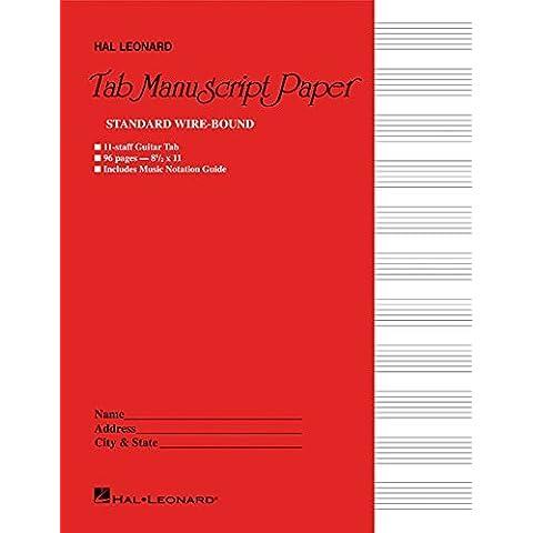 Guitar Tablature Manuscript Paper - Wire-Bound: Manuscript Paper (2015-10-30)