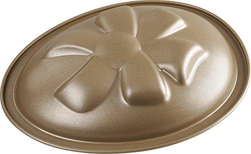 Dr. Oetker Motivbackform Osterei 350 ml, ovale Backform für einen Oster-Kuchen aus der Serie Goldiges Ostern (Farbe: Gold), Menge: 1 Stück