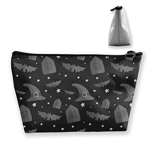 Happy Halloween Witch Hat Medium Cosmetic Makeup Bag Travel Pouch Carry Case
