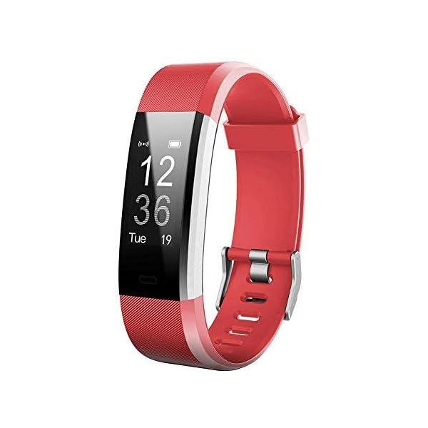 Broadroot Correa Reloj Reemplazo de la correa de reloj Watch Band Accessorios para reloj inteligente ID115Plus HR Rojo 1