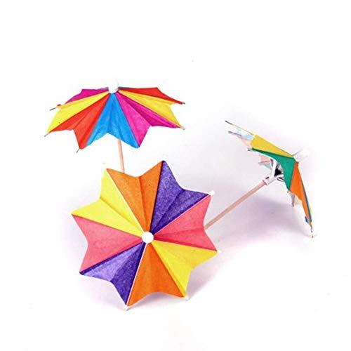 50 Stück Papier-Cocktail-Drink Sticks 8 Quadratische Regenschirme Sonnenschirme Plektren für Hochzeit Party Dekorationen Restaurants Buffets Party Supplie (Sticks Drink Regenschirm)