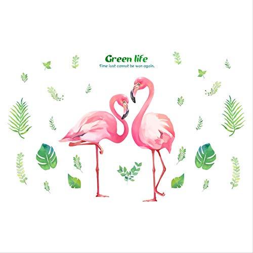 Teen Heart Raumaufteilung Dekoration Idyllischer Frischer Flamingo Wandaufkleber (Zimmer Teppiche Für Teens)
