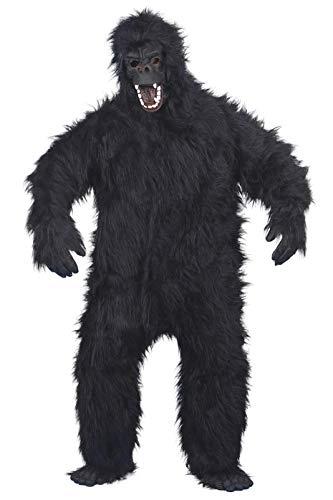 Smiffys, Herren Gorilla Kostüm, Bodysuit, Maske, Hände und Füße, One Size, 23907