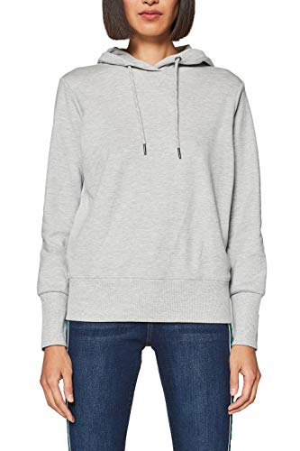 edc by ESPRIT Damen 019CC1J020 Sweatshirt, Grau (Light Grey 5 044), Small (Herstellergröße: S)