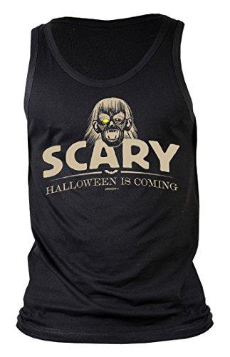 ren Tank-Top - Scary - Halloween is Coming - Vampir - Geschenk-Idee zur gruseligsten Zeit Des Jahres - Farbe Schwarz, Größe:XXL (Vampir Outfits Ideen)