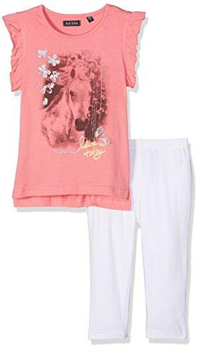 Blue Seven Mädchen kl Md Set: T-Shirt + Capri Bekleidungsset, Rosa (Azalee 415), 116 Rosa Capri-set