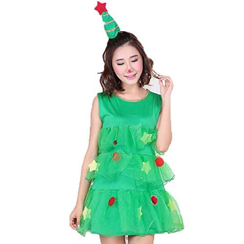 Costour Damen Kostüm Rentier Weihnachten Kostüm für Kaneval Fasching Weihnachtskostüm (Damen Rentier Kostüme)