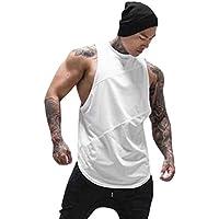 Camisetas Sin Manga Tirantes de Algodón Deportivo Gimnasio Fitness Gym Tank Tops Chaleco Suelto para Hombre Gusspower
