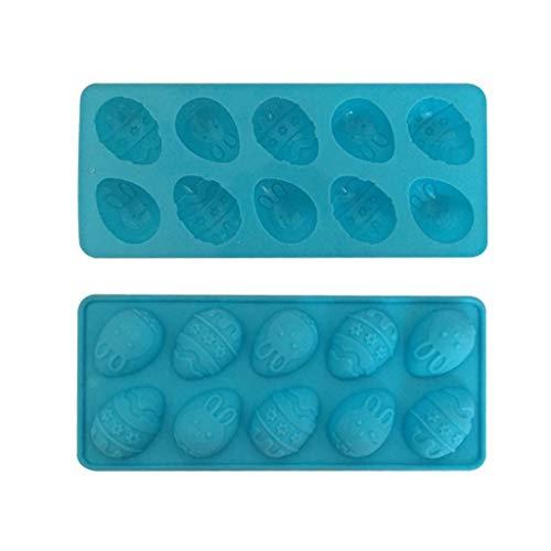 Altsommer Osterhasen Silikon Eier Schokoladenkuchen Seifenform Backen Eiswürfelschale Ostern Silica Eier Schokoladenform Handgemachte Seife Eiswürfel